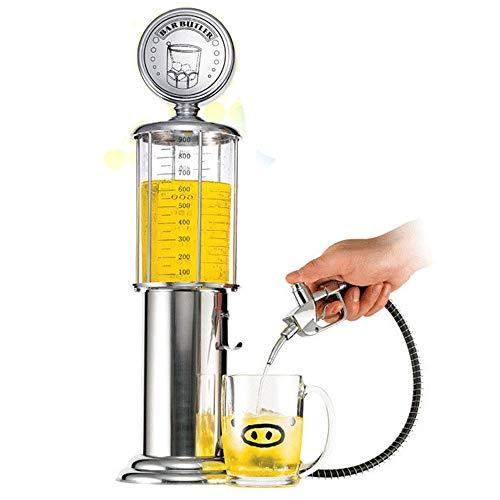 Retro Getränke Dispenser Chrome Bar Zapfsäule mit Tap Schlauch für Home Bar,...