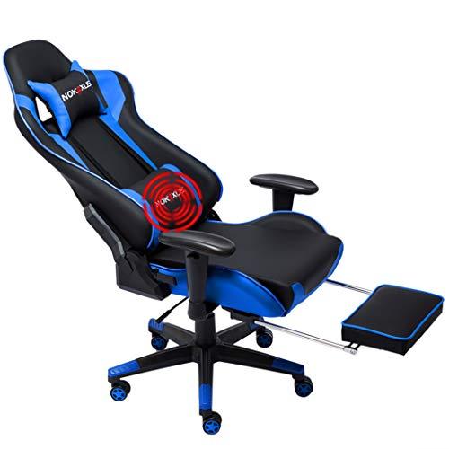 NOKAXUS Gaming-Stuhl Bürostuhl Größe hohe Rückenlehne ergonomischer Rennsitz mit Massage...