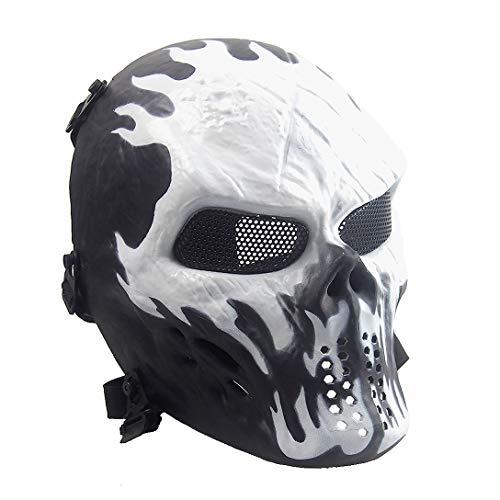 Sensong Airsoft Maske mit Metallgitter Augenschutz Halloween...