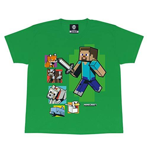 Minecraft Wie EIN Bossss Jungen-T-Shirt Grün 146   PS4 PS5 Xbox...