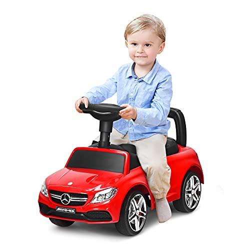GOPLUS 2 in 1 Kinderauto, Schiebauto mit Musik, Lichter &...