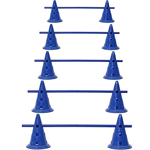 EliteKoopers 10 Kegel (5 Set) Blau Hürden Hundesprungtraining...