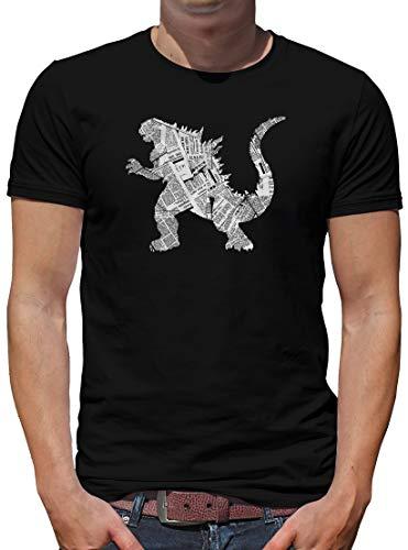 TShirt-People Newsletter Godzilla T-Shirt Herren Tokyo L Schwarz