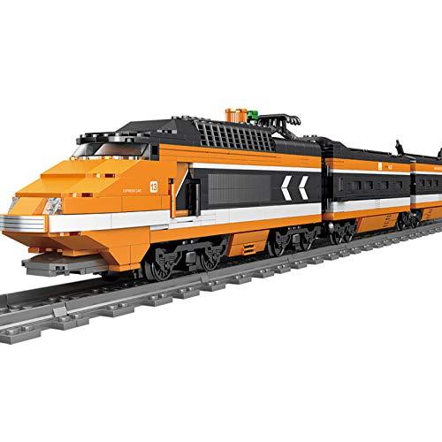 IIKA Bausteine Zug Adventskalender Zuggleis Set mit Licht und...