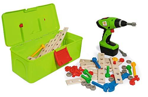 Eichhorn 100039079 Constructor Werkzeugbox, inkl. kompakt Schrauber, Erweiterungsteile, 70...
