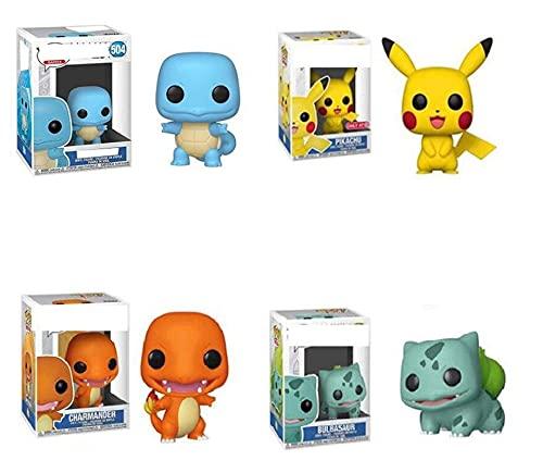 4Pcs Pokemon Anime Action-Figuren Modell Pikachu Bulbasaur...