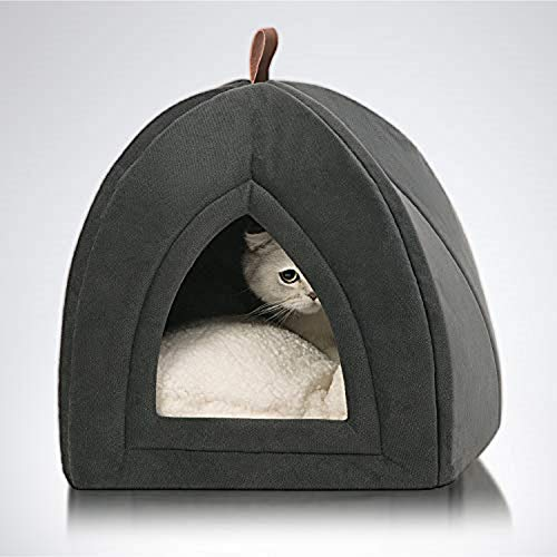 Bedsure Katzenhöhle Katzenbett mit Super Weichem Flauschigem...