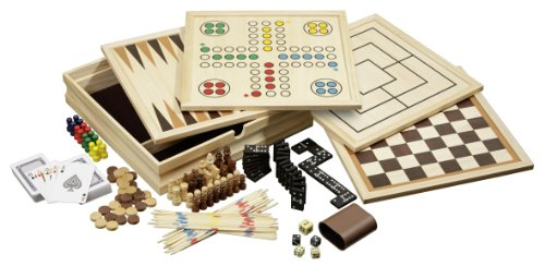 Philos 3098 - Holz-Spielesammlung, medium, mit 10...