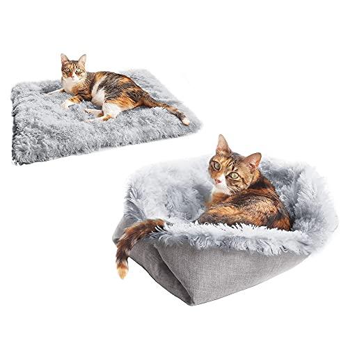 2 in 1 Katzenbett Befitery Flauschige Katzenmatte Haustierbett...