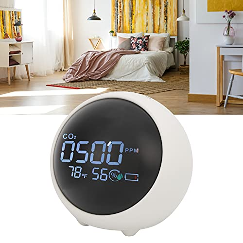 CO2-Messgerät, LCD-Bildschirm zeigt CO2-Monitor für Zuhause...