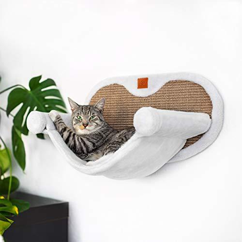 Pfotenolymp® Hängematte für Katze stabil mit Wandmontage für...