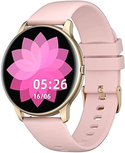YAMAY Smartwatch für Damen Herren,1.28 Zoll HD Farbdisplay...