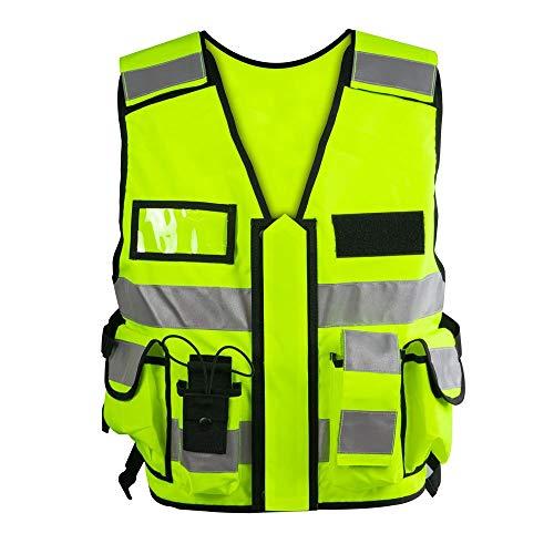 Einsatz Warnweste mit Reißverschluss reflektierend für Polizei, Security,...