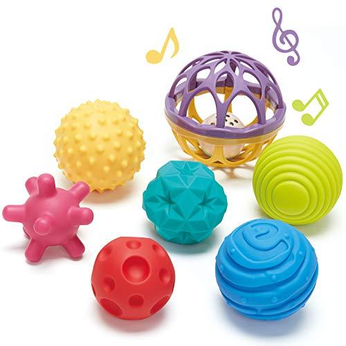 CubicFun 6 PCS Baby Sensorisches Spielzeug und 1 PC Rassel...