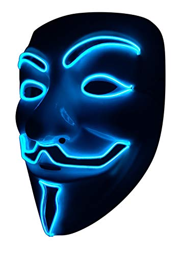 SOUTHSKY LED Maske V for Vendetta Maske EL Draht Leuchten Für...