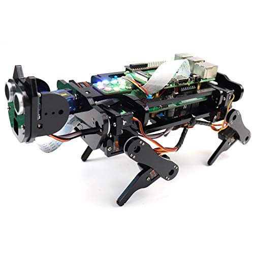 Freenove Robot Dog Kit for Raspberry Pi 4 B 3 B+ B A+, Walking,...