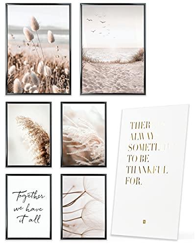 Heimlich® Premium Poster Set OHNE Bilderrahmen | Stilvolles Set...