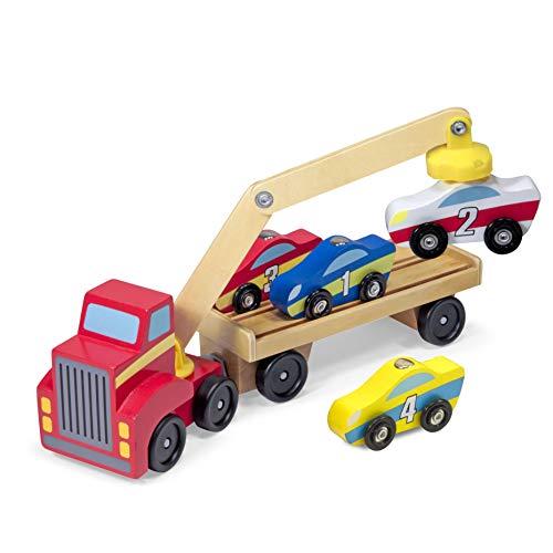 Melissa&Doug magnetischer Autoheber   Fahrzeuge und Züge aus...