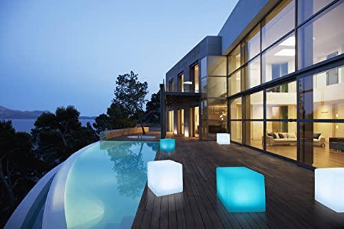 Bonetti Solarlampe für Außen in Würfel-Form mit warm-weiß,...