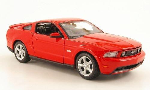 Ford Mustang GT, rot, 2011, Modellauto, Fertigmodell, Maisto 1:24