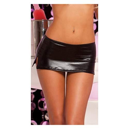 TL TONGLING Cosplay-Kostüm. Frauen Clubwear Lackleder Miniröcke...