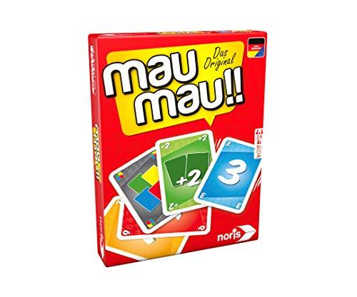 Noris 606264441, Mau Mau, das weltbekannte Kartenspiel mit einem originellen Blatt,...