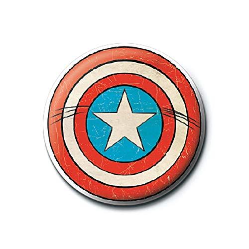 Echter Marvel Comics Captain America Schild Logo Taste Abzeichen...