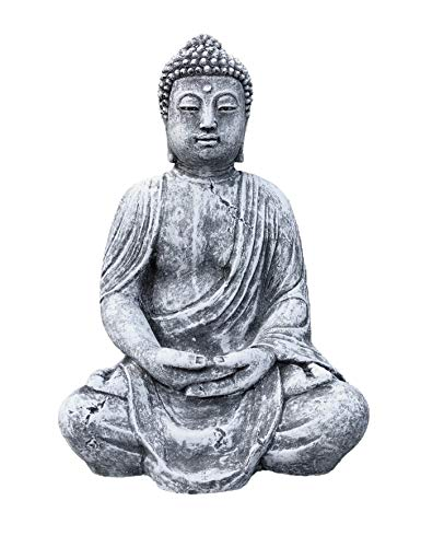 Steinfigur großer Buddha Shiva, Frostfest bis -30°C, massiver...