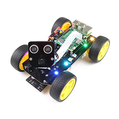 Freenove 4WD Smart Car Kit for Raspberry Pi 4 B 3 B+ B A+, Face Tracking, Line Tracking, Light...