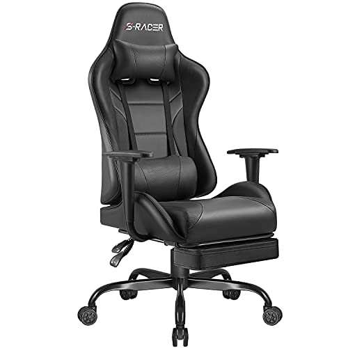 Homall Gaming Stuhl Gamer Stuhl mit Fußstütze Ergonomischer...