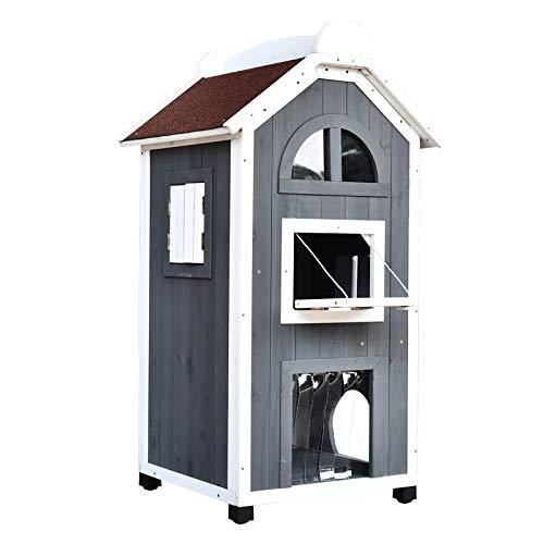 Pawhut Katzenhaus für Katzenbett oder Katzentoilette,...