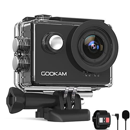 GOOKAM Action Cam 4K 60FPS 20MP WiFi Actionkamera 40M...