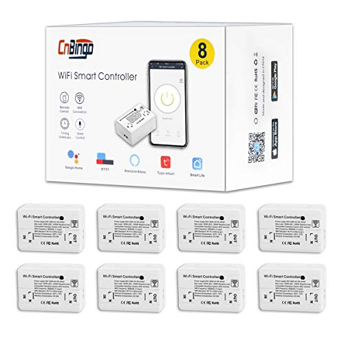 8er-Pack CNBINGO WiFi/WLAN-Schalter, Mini-Modul-Funkschalter für...