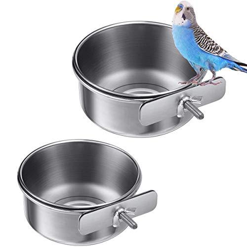 wegreeco 2 Stück Vogelfutterschalen Tassen Edelstahl...