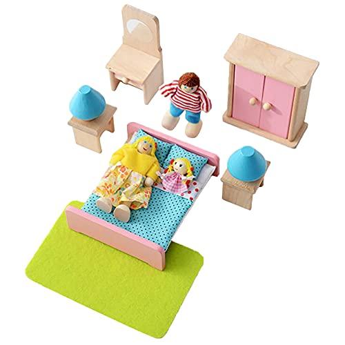 MAIKUI Mini Spielzeug Möbel-Set, Kinderhausmöbel Puppenhaus...