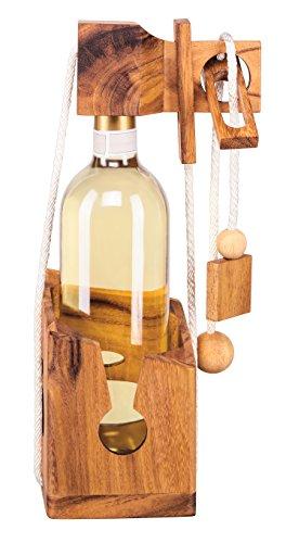Weinpuzzle aus edlem Holz, Flaschenpuzzle, Flaschentresor,...
