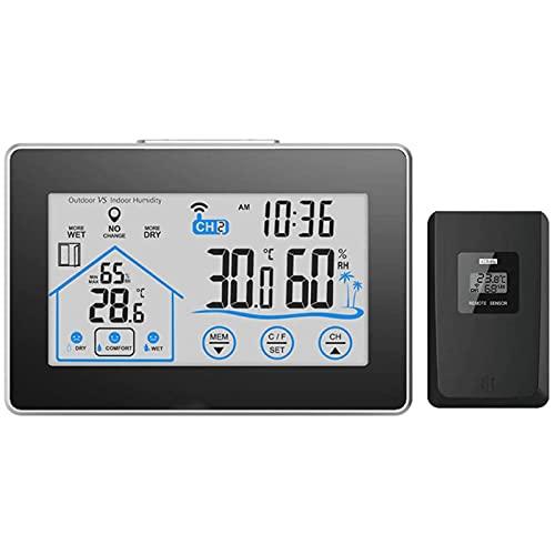 FHISD Wetterstation, Digitales Innen-Außenthermometer,...