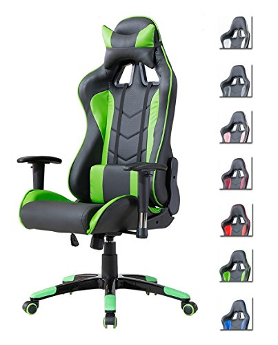 Delman Gaming Stuhl Bürostuhl Racing Stuhl Gamer Ergonomischer...