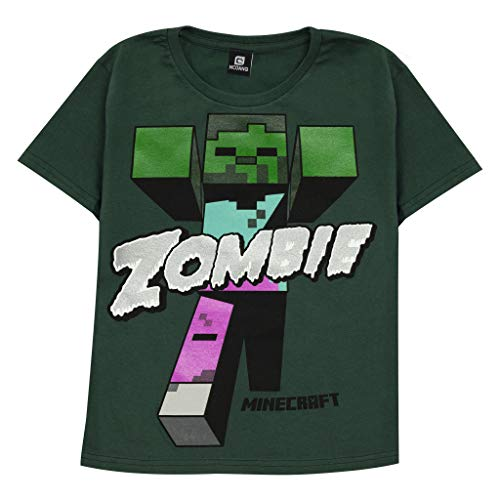 Minecraft Beware Zombies Boys T-Shirt Green 5-6 Years   PS4 PS5...