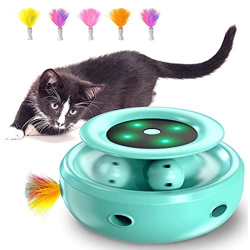 HOFIT Interaktives Katzenspielzeug, Hinterhalt mit Kugelbahnen...
