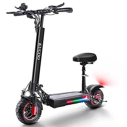 HUABANCHE Elektroroller Erwachsene E Scooter mit Sitz 55 km Lange...
