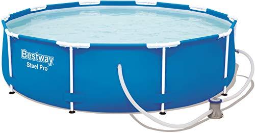 Bestway Steel Pro Frame Pool, rund 305x76 cm Stahlrahmenpool-Set...