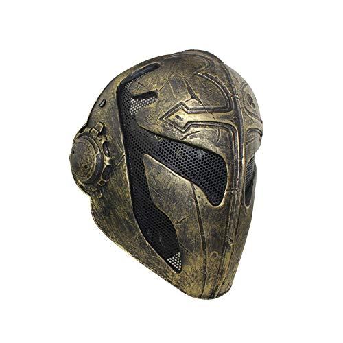 WLXW Cosplay Herren Taktische Maske, Templer Cross King FRP...