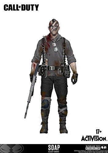 Call of Duty McFarlane John Soap MacTavish Figur 15 cm Bloody...