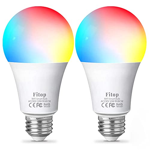 Alexa Glühbirne Fitop Smart Lampe E27, WLAN Lampe LED Kompatibel...