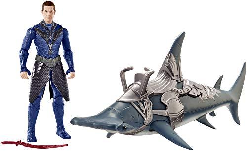 Mattel FYR96 DC Aquaman Vulko 15 cm Figur mit Hammerhai und...