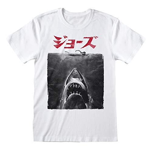 Jaws Japanisches Filmposter Herren-T-Shirt Weiß 3XL | S-XXXXXL,...