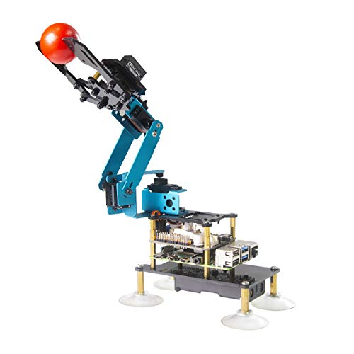 Adeept RaspArm-S 4-DOF Roboterarm 4-Achsen Roboterarm Kit für...