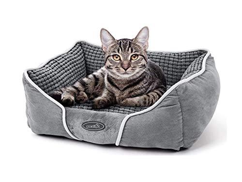 Pecute Hundebett Haustierbett für Katzen und Hunde Rechteck...