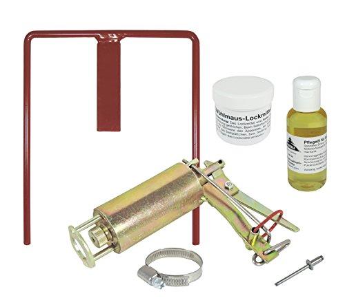Wühlmausfalle Kieferle W2 + Halter + Pflegeöl + Lockmittel +...